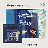 Caja Regalo - La magia de mi nombre - Libro personalizado para niños - ¡Incluye recortables!