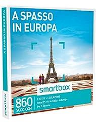 SMARTBOX - Cofanetto Regalo - A SPASSO IN EUROPA - Hotel 3* e 4* in Italia e in Europa