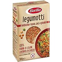 Barilla - Legumotti Lenticchie Rosse, Ceci e Piselli - Ricchi di Proteine e Fibre - Senza Glutine - Pacco da 300 gr