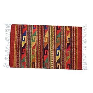 Teppich Vintage 100x60 cm in Rot, Terrakotta, Braun - Naturfarben | Handarbeit | Teppich aus Wolle handmade