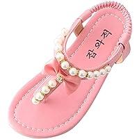 PLOT_Home Summer Sandals Toddler Slippers Infant Sneakers Kids Shoes Socks Baby Flip Flops Girls Pearl Princess Thong…