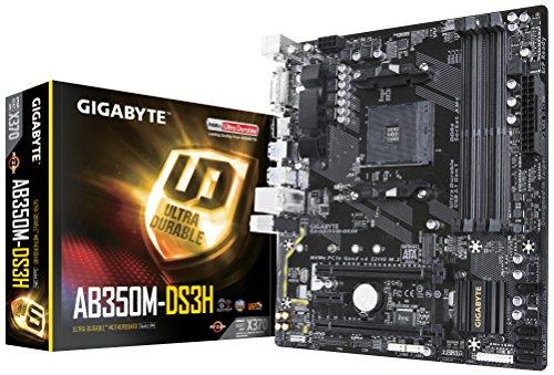 """Gigabyte GA-AB350M-DS3H Mainboard """"4x DDR4 DIMM, dual PC4-25600U/DDR4-3200"""", 64GB schwarz  Mainboards"""