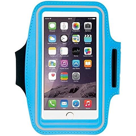 iPhone 6S más brazalete, HAWEEL ® Sport brazalete caso con agujero y clave auricular iPhone Plus 6 & 6S Plus, Samsung Galaxy S6 / S5, bebé azul