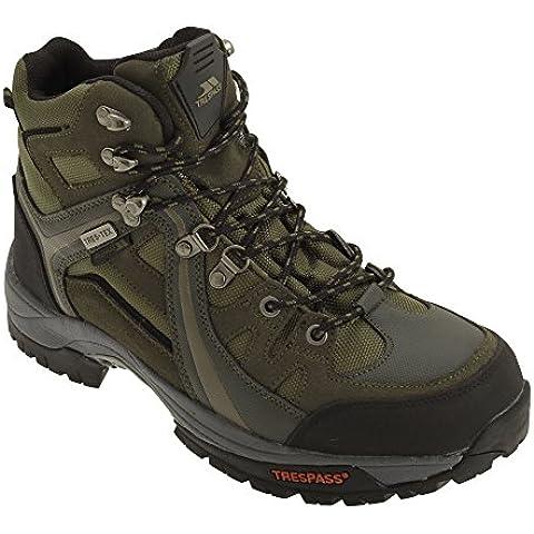 Trespass - Botas de montaña / trekking con cordones e impermeable Modelo Rhode para hombre