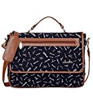 Funk For Hire Printed Flap Closure Dark Navy Blue Cotton Canvas and Faux