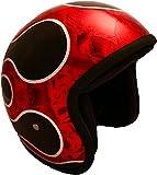 PI Wear Jet Super Flake Gradient Red * sehr kleiner und schmaler Jethelm * auffälliges Design * keine ECE (M) (S)