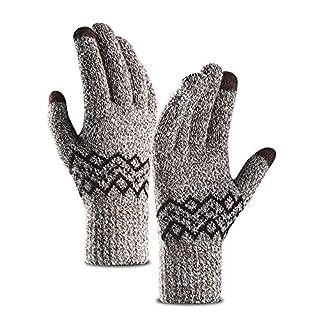QSEVEN Damen Touchscreen Handschuhe, Winter Thermo Damenhandschuhe für Smartphones