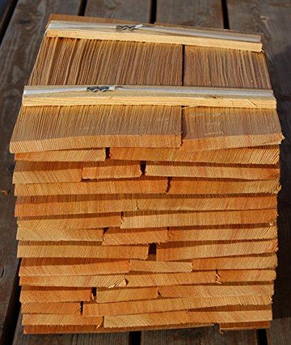 Holzschindeln Lärche 40cm, Bundinhalt 8 Breitenmeter