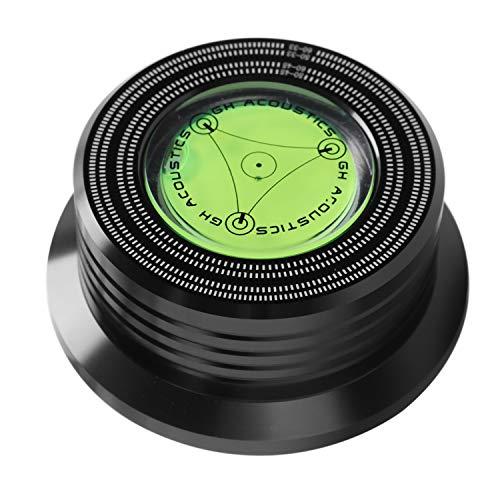 Mucjun Universal 50 / 60Hz Lp Schall Platte Audio Platten Spieler Stabilisator Clamp Aluminium Gewicht Clamp mit Test Geschwindigkeit Blasen (Schwarz)