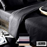 """B-Sheets - Ultra Luxury Range - Double Queen Size Fitted Bed Sheet (With Elastic) + 2 Pillow Covers 