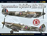 Supermarine Spitfire Mk XVIe Decals: 8 Painting Schemes in 3 Scales (Mini Topcolors)