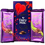 #7: Cadbury Dairy Milk Silk Roast Almond, Fruit & Nut Special Valentine Pack Combo Chocolate, 674g