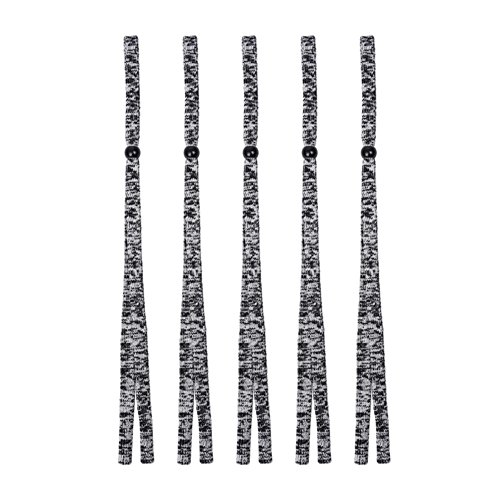 Preisvergleich Produktbild iShine 5 Stück Grau Seil Brille Halter Verstellbar Kordel Sonnenbrille Seil Brillen Retainer Brillen Retention Anti-Fallen Bewegung Reisen
