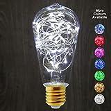 1W St58industriels à LED décoratifs ampoule colorée Guirlande lumineuse à filament E27, blanc, E27, 1.00W 240.00V