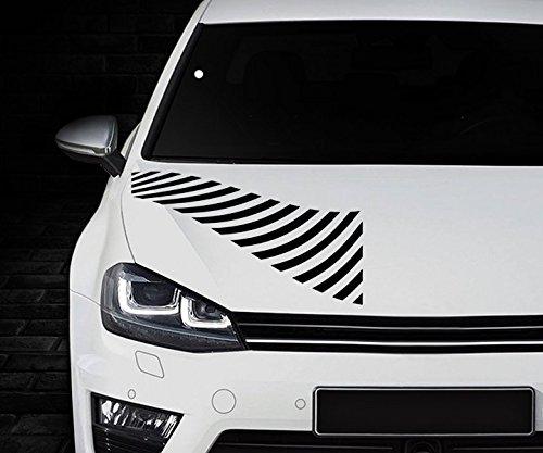 Zebra Streifen Autotattoo Motorhaube Auto Aufkleber Heckscheibe Dekorstreifen Sport Rennstreifen Viper Tuning 2N434, Farbe:Weiß Matt;Aufkleber Größe:58cmx100cm (Zebra-auto Aufkleber)