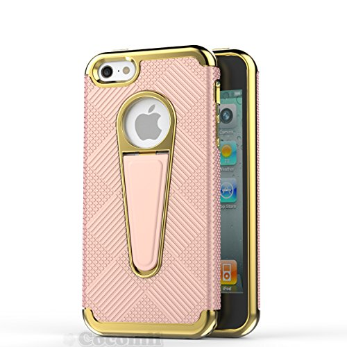 iPhone SE / 5S / 5 Hülle, Cocomii Angel Armor NEW [Heavy Duty] Premium Tactical Grip Kickstand Shockproof Hard Bumper Shell [Military Defender] Full Body Dual Layer Rugged Cover Case Schutzhülle Apple Rose Gold