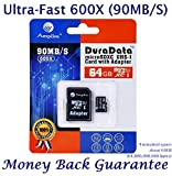 64GB Micro SD Card Plus Adapter (Class 10 UHS-I...