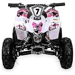 Miniquad per bambini Fox XTR, bianco e rosa
