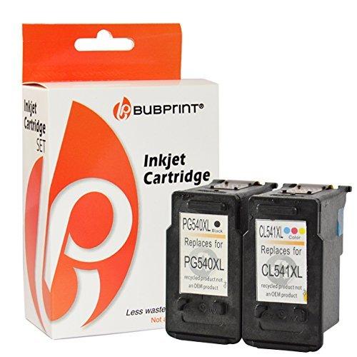 Preisvergleich Produktbild Bubprint 2 Druckerpatronen kompatibel für Canon PG-540 XL CL-541 XL für Pixma MG2100 MG2150 MG2200 MG2250 MG3150 MG3250 MG3255 MG3500 Schwarz Color