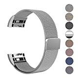 Fitbit Charge 2 Armband, Swees Milanese Edelstahl Replacement Wrist Band Strap Watchband Uhrband Uhrenarmband mit Magnet-Verschluss und Metallschließe für Fitbit Charge 2 Smartwatch Small (5.5