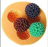 3 Hohlr?ume 1,5 cm Mini Blume Sculpting Silikon Zucker Harz Handwerk DIY Formen gum paste Kuchen Dekorieren Fondantform
