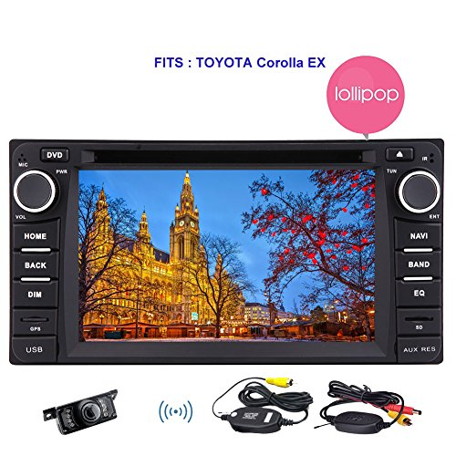 6.2 '' Stereo f¨¹r Toyota Corolla EX (2008 ~ 2013) mit Android 5.1 Lollipop Quad-Core 1,6 GHz 2 L?rm in Schlag-Auto-DVD-Spieler-Unterst¨¹tzung GPS-Navigation Sat Navi Auto-CD-DVD-Multimedia-System Subwoofer SWC FM / AM Radio 3G WIFI 1080P Wireless-Kamera (Toyota Sat-radio)