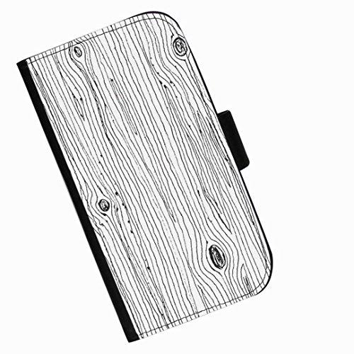 Hairyworm - Baumrindezeichnung Samsung Galaxy S6 Active (SM-G890) Leder Klapphülle Etui Handy Tasche, Deckel mit Kartenfächern, Geldscheinfach und Magnetverschluss.