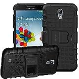 ykooe Galaxy S4 Hülle, (TPU Series) Samsung S4 Dual Layer Hybrid Handyhülle Drop Resistance Handys Schutz Hülle für Samsung Galaxy S4 (Nicht mit S4 Mini zu Verwenden) Schwarz