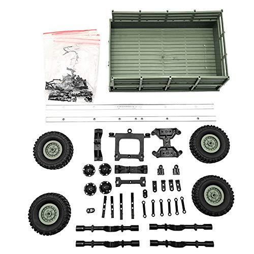 Fcostume Upgrade Anhänger DIY Teil Set für WPL 1/16 Militär LKW RC Auto Kunststoff Metall (Armee-Grün) (Kunststoff-militärs)
