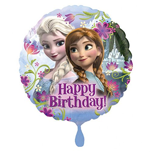 amscan 2900901 Die Eiskönigin Folienballon Frozen Happy Birthday, Multi