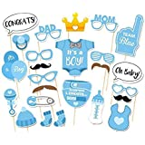 Rzctukltd 25PCS Photo Booth Props Baby Shower New Born Party Photography Kit