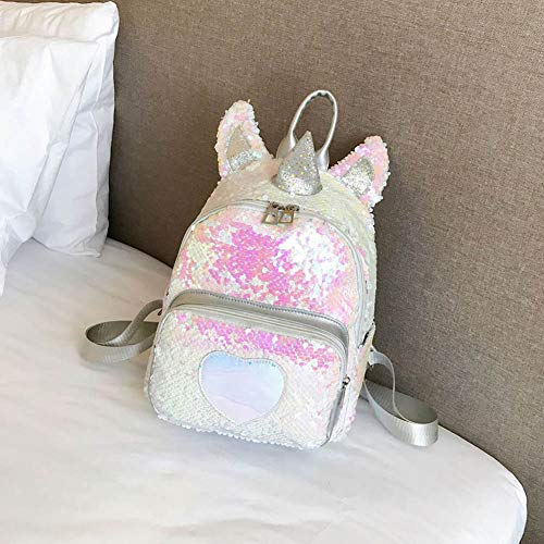 Yuhiugre mochila lentejuelas diseño unicornio brillante