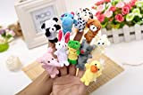 #7: Kuhu CreationsTM Supreme 10 Pcs Animal, Baby Story Telling Finger Puppets.