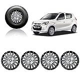 #8: Autopearl Car Full Wheel Cover Caps Silver And Black 12 Inches Press Type Fitting For Maruti Suzuki Alto 800 2012
