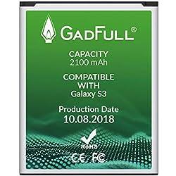 GadFull Batteria per Samsung Galaxy S3   di costruzione anno 2018   Corrisponde alla batteria a ioni al litio originale EB-L1G6LLU   del modello Galaxy S3 i9300   Galaxy S3 LTE i9305   batteria per il tuo smartphone   Perfetta come batteria sostitutiva