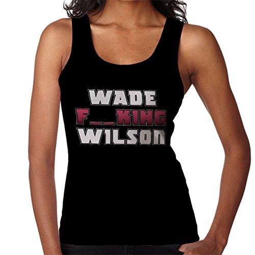 Deadpool Wade Wilson Typography Censored Women's Vest Black
