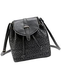 MagiDeal Retro Women Ladies Bag Handbag Leather Shoulder Satchel Messenger Cross Body - Black