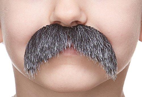 ende Kleiner Walrus Fälschen Schnurrbart für Kinder Salz und Pfeffer Farbe ()