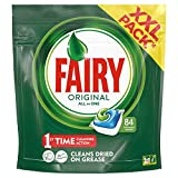Fairy Original All In One Dishwasher Tablets, 84 Tablets