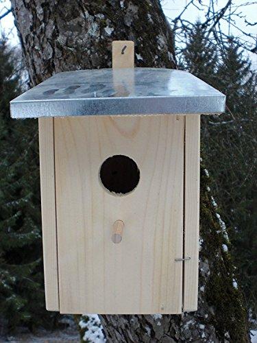 Dekorativer Nistkasten (N6) Zinkdach-Vogelhaus-Vogelhäuschen-sauberste Verarbeitung-Vogelhaus Garten Deko