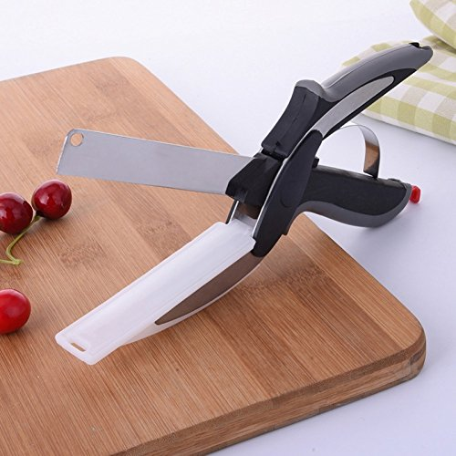 Berry Collection New Smart and Modern Look Knife Cutter-2-IN-1-Kitchen-Knife-Cutting-Board Fruit & Vegitable Stainless steel blades work as a great vegetable and food chopper  available at amazon for Rs.295