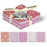 """Gutermann """"French Cottage"""" Fat Quarter Bundle Craft Supply, 100% algodón, rosa, pack de 5"""