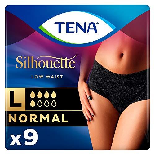 TENA Silhouette Normal Noir Inkontinenzunterhose, Größe L -