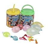 1000 Stück 2x 500 Wasserbomben Mega-Pack Luftballons bunt Wasser Bomben Luft Ballon Wasserballon + Praktische Füllhilfe
