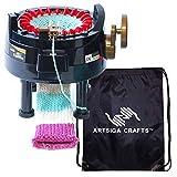 addi Express Professional Strickmaschine 22 Nadeln mit 1 Artsiga Crafts Aluminium-Maschenhalter