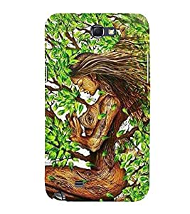 Animated Girl 3D Hard Polycarbonate Designer Back Case Cover for Samsung Galaxy Note i9220 :: Samsung Galaxy Note 1 N7000