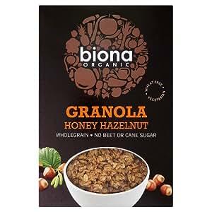Biona Organic Honey Hazel Crunchy Granola 375g (Case of 6)