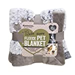 Medium dog blanket, for dogs, puppies, cats and kittens, machine washable, Super soft throw blanket, grey, 68 x 46 cm…