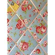 Medio 40x 30cm Cath Kidston/IKEA color azul Rosali Rose hecha a mano tela aviso/Pin/Memo/módulo de junta