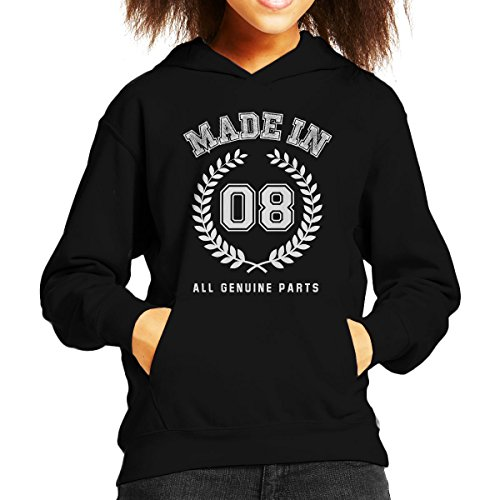 Coto7 Made In 08 All Genuine Parts Kid's Hooded Sweatshirt -